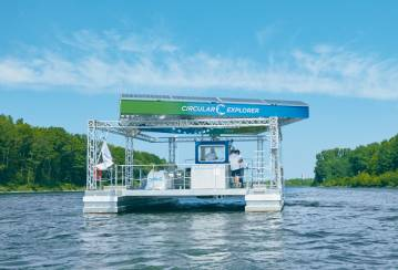Holcim's first of its kind solar-powered catamaran to remove ocean plastic